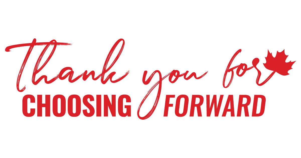 Thank you for Choosing Forward