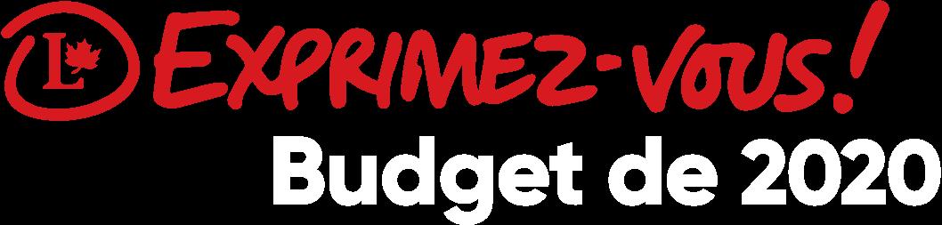 Exprimez-vous! Budget de 2020