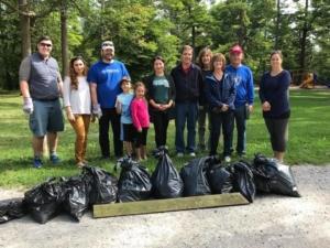 Community clean up in Jackson Park, Peterborough