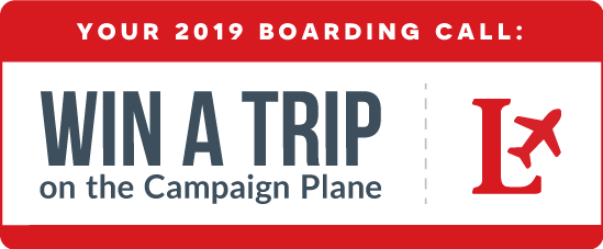 Your 2019 Boarding Call: Win a Trip on the Campaign Plane