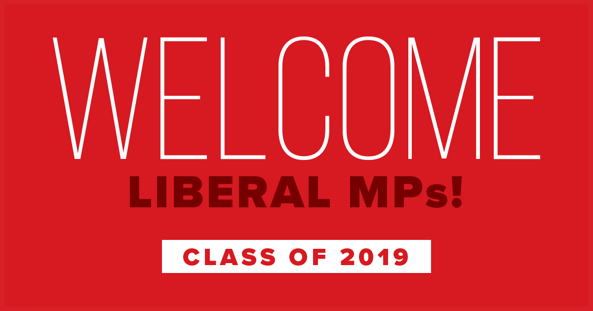 Welcome Liberal MPs! Class of 2019